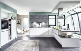 Einbauküche Fashion in alpinweiß, AEG-Geschirrspüler