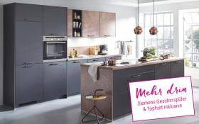 Einbauküche Touch in schwarz, Siemens-Geschirrspüler