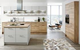 Einbauküche Fashion in Lack alpinweiß matt, Leonard-Kühlschrank LK0813