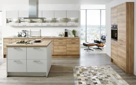 Einbauküche Fashion, Lack alpinweiß matt, inklusive Elektrogeräte