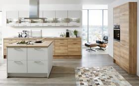 Einbauküche Fashion in Lack alpinweiß matt, Neff-Geschirrspüler