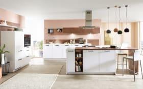 Einbauküche Fashion I in alpinweiß, Miele-Geschirrspüler
