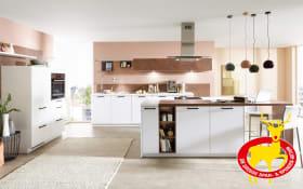 Einbauküche Fashion I in alpinweiß, Siemens-Geschirrspüler