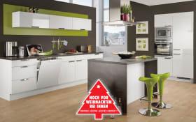 Einbauküche Focus in alpinweiß, AEG Backofen