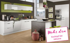 Einbauküche Focus in alpinweiß, Junker-Geschirrspüler JS03VN90