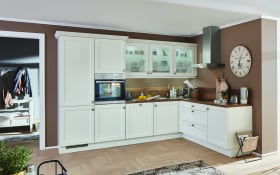 Einbauküche Chalet, Magnolia matt, inklusive Miele Backofen, inklusive Elektrogeräte