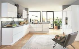 Einbauküche Flash, alpinweiß Hochglanz, inklusive Neff Backofen, inklusive Elektrogeräte