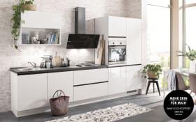Einbauküche Flash in alpinweiß Hochglanz, Siemens-Geschirrspüler
