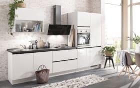 Einbauküche Flash in alpinweiß Hochglanz, Neff Geschirrspüler GV1400A