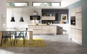 Einbauküche Riva 371 beton-schiefergrau, Geschirrspüler Leonard LV1526