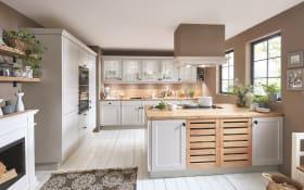 Einbauküche Chalet, Lack sand, inklusive Bauknecht Elektrogeräte