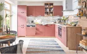 Einbauküche Easytouch in rosarot, Privileg Elektrogeräte
