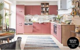 Einbauküche Easytouch in rosarot, Siemens Geschirrspüler SN614X00AE