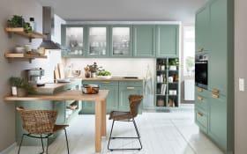 Einbauküche Cascada, Lacklaminat schilf, inklusive Siemens Elektrogeräte