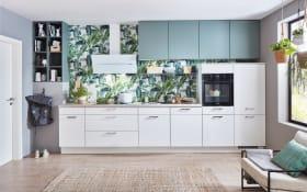 Einbauküche Laser inweiß/mint, Siemens Geschirrspüler inklusive