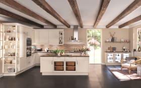 Einbauküche Chalet, magnolia matt, inklusive AEG Elektrogeräte