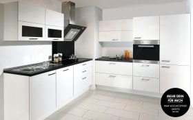 Einbauküche Lux in Lack weiß Hochglanz, Simenes-Geschirrspüler