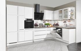 Einbauküche Focus in alpinweiß, Bauknecht Geschirrspüler