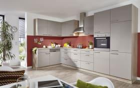 Einbauküche Lyon in lava Hochglanz, Siemens-Geschirrspüler