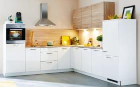 Einbauküche Lux in weiß, Viva-Geschirrspüler