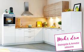 Einbauküche Lux in weiß, Miele Backofen