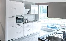 Einbauküche Lyon in Hochglanz weiß, AEG-Geschirrspüler