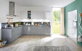 Einbauküche Lux in grau