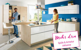 Marken-Einbauküche Nova Lack in weiß
