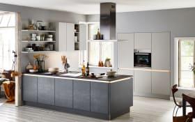 Einbauküche Feel in sahara softmatt Lacklaminat, AEG-Geschirrspüler