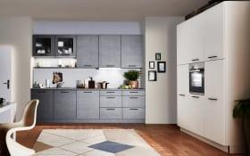 Einbauküche Metal in stahlgrau