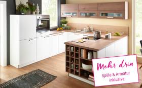 Einbauküche Manhattan Uni in weiß