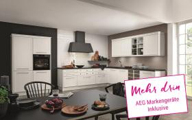 Einbauküche Torino in weiß, AEG-Geschirrspüler