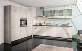Einbauküche Star in crema Hochglanz