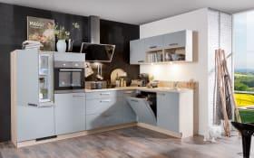 Marken-Einbauküche Star in graublau