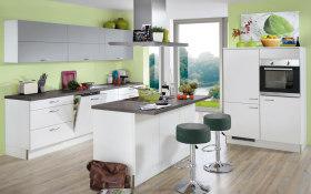 Einbauküche Star in Lacklaminiat Hochglanz weiß