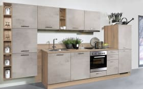 Einbauküche Beton in Betonoptik matt hell, Neff-Geschirrspüler
