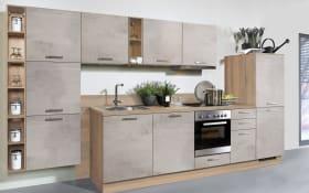 Einbauküche Beton in Betonoptik matt hell, Miele-Geschirrspüler