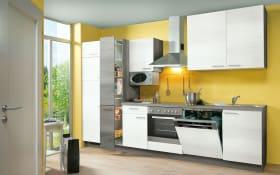 Einbauküche Plan in Eiche weiß matt, Miele-Geschirrspüler