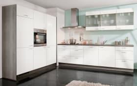 Einbauküche Star in Lacklaminat Hochglanz weiß, AEG-Geschirrspüler
