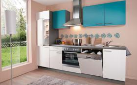 Einbauküche Win in weiß, Siemens-Geschirrspüler