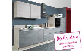 Einbauküche Beton in Beton hell Optik, Miele-Geschirrspüler