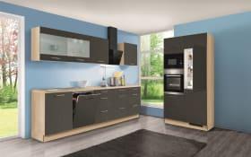 Einbauküche Base 128 Stahl dunkel, Zanker Geschirrspüler KDT10003FB