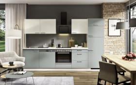 Einbauküche Win 026 graublau matt, Zanker GeschirrspülerKDI10003XB