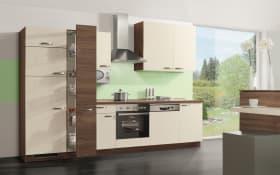 Einbauküche Win 012 Magnolia/Nussbaum-Optik, Ignis Geschirrspüler GBE-1B19-X