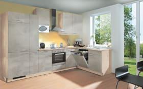 Einbauküche Base 127 Beton hell, Ignes Geschirrspüler