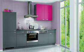 Einbauküche Programm W01 in anthrazit