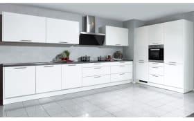 Marken-Einbauküche Faro in weiß, AEG-Geschirrspüler
