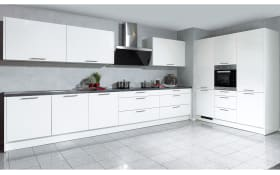 Marken-Einbauküche Faro in weiß, Siemens-Geschirrspüler SN614X00AE