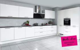 Marken-Einbauküche Faro in weiß, Siemens-Geschirrspüler