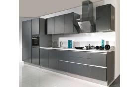 Einbauküche Stratos in carbon metallic, AEG-Geschirrspüler